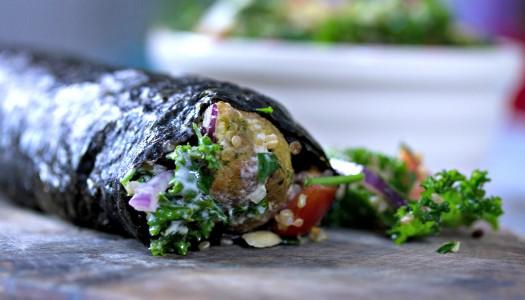 Super healthy falafel wraps