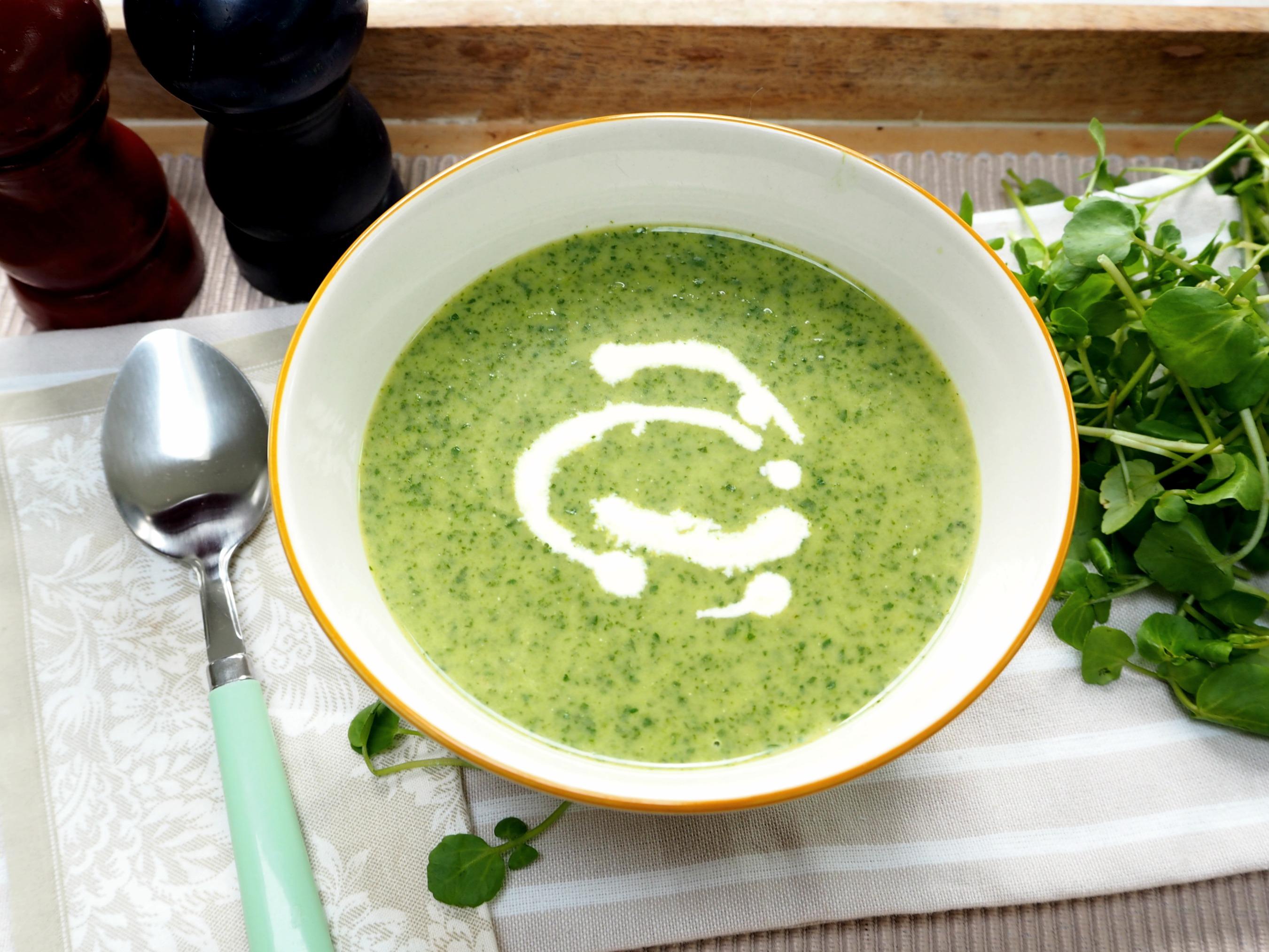 healthy watercress soup