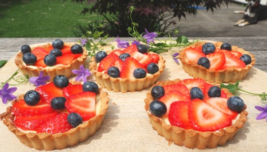 Gluten-free berry tartlets