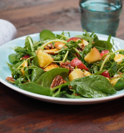 pecan and peach salad