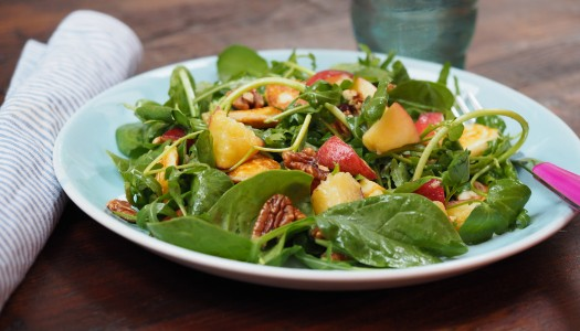 Toasted Pecan and Peach Salad
