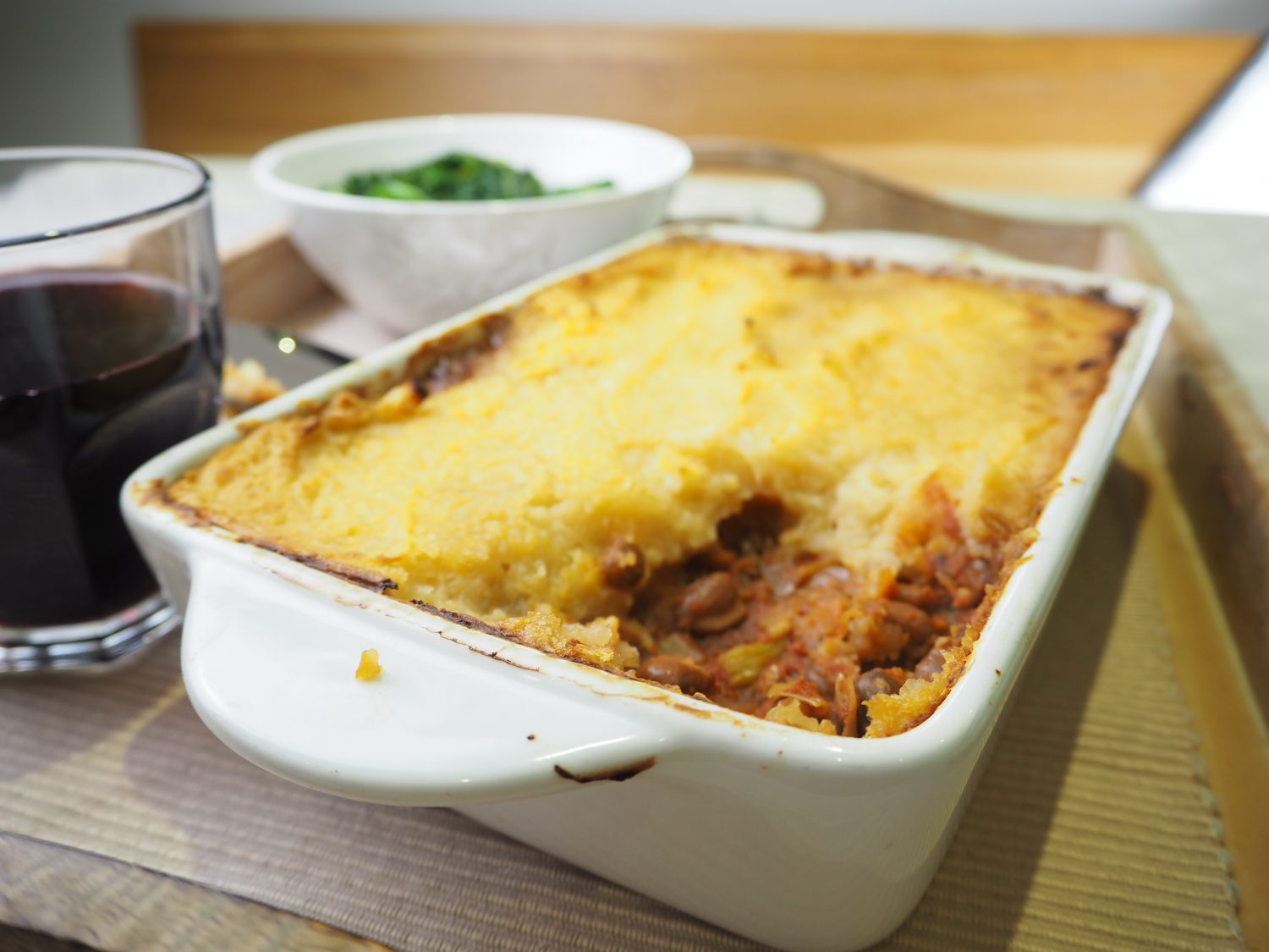 healthy vegetarian shepherds pie