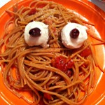 halloween eyeball pasta