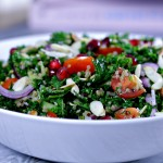 healthy kale and quinoa tabbouleh