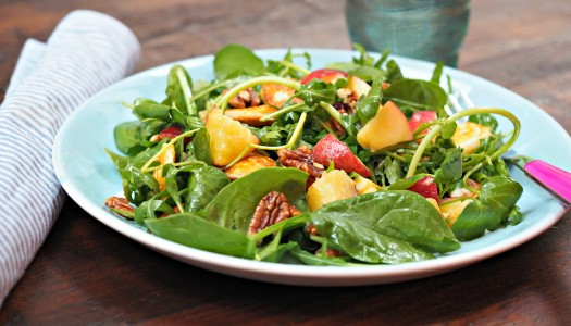 Peach and Toasted Pecan Salad