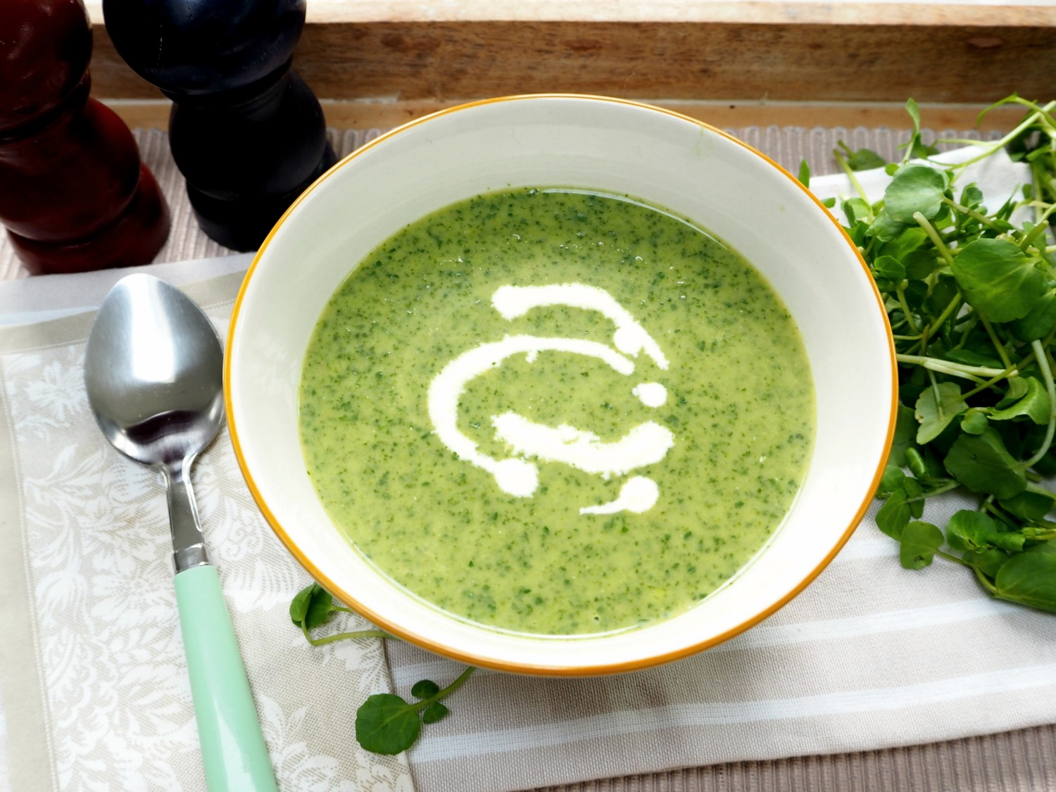 Watercress soup - Eat Drink Live Well