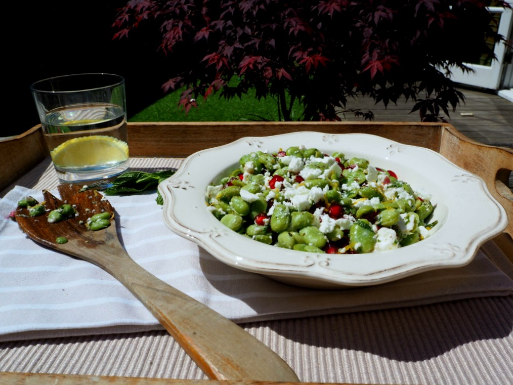Broad bean and feta salad - Eat Drink Live Well