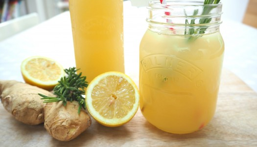 Lemon and ginger ale