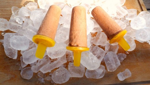 Chocolate orange ice lollies