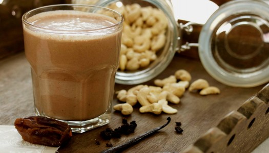 Cashew chocolate milkshake recipe